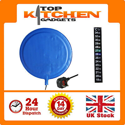 TopBrewing™ Heat Pad Mat & Thermometer ✰ Home Brew Beer Wine Cider Fermentation  • 23.95£