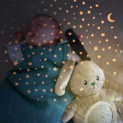 Star Night Cold LED Light Projector Rabbit Plush With Lullaby Music For 0+ Month • 56.99£