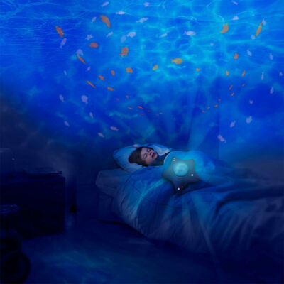 Calm Ocean Musical Ambiance Night Light Projector Aqua Effect For 0 Plus Months • 67.99£