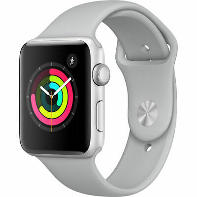 $ CDN393.27 • Buy New Sealed Apple Watch S3 GPS 42mm Silver Aluminum Smartwatch Fog Sport Band