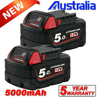 AU81.99 • Buy 2Pack M18 For Milwaukee M18B5 18V Li-ion XC 5.0 Battery 48111820 48-11-1852 1840