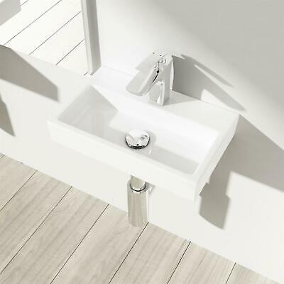 Durovin Cloakroom Wash Basin Ceramic Wall Mounted Small Sink 385x240 Mm • 39.99£