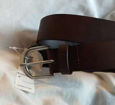 $7.25 • Buy Boys Size Medium Old Navy Black Leather Belt With Silver Buckle ~ Brand New