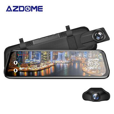 AU89.99 • Buy AZDOME FHD 10 Mirror Dual Lens Car Dash Cam Car Streaming Media Touch Screen DVR