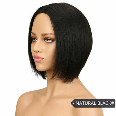 $34.56 • Buy Factory Price Lace Wig BOB Straight 100 Virgin Human Hair Natural Black 10 In