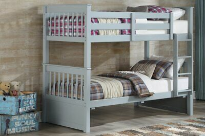 £319 • Buy White Or Grey Wooden Bunk Bed - New Thomas Bunks - Optional Drawers And Mattress