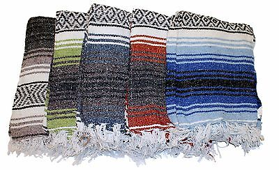 £14.54 • Buy Assorted Yoga Blanket Mat Mexican Rug Throw Hot Rod Seat Cover 100% Acrylic