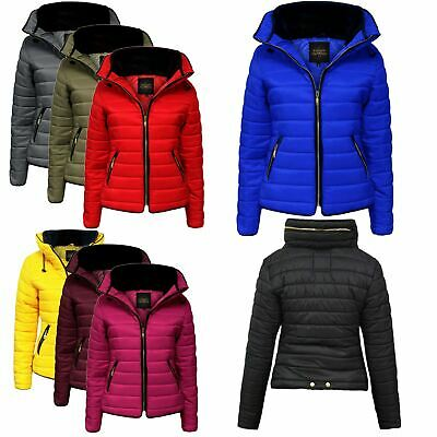 Womens Ladies Quilted Padded Puffer Bubble Warm Winter Coat Jacket Outwear New • 26.99£