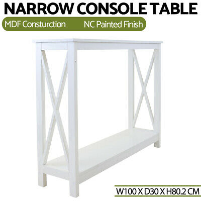 AU107.99 • Buy Modern Console Table White Hall Hallway Entry Side Display Stand Desk Furniture