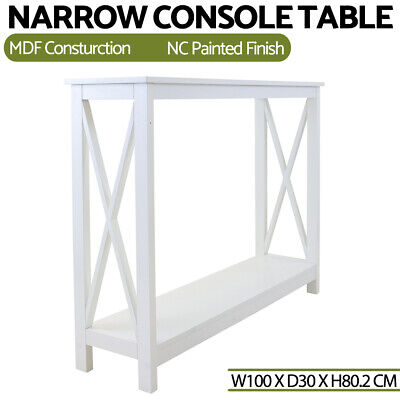 AU103.99 • Buy Modern Console Table White Hall Hallway Entry Side Display Stand Desk Furniture