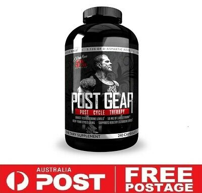 AU79.95 • Buy Rich Piana 5% Nutrition Post Gear 240 Capsules | PCT Test Booster Liver Support