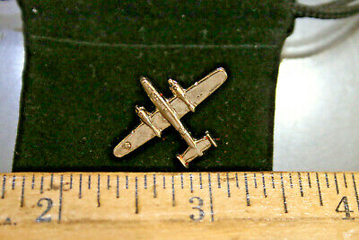 $25.68 • Buy Vintage Military Bomber Tie Pin Tie Tack Silvertone WOW LOOK!  JSH