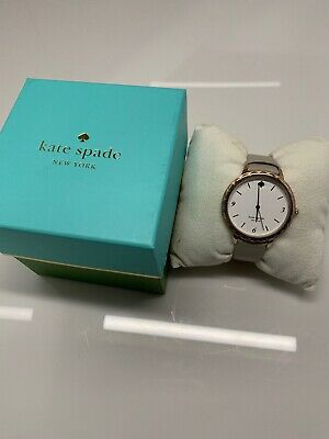 $ CDN59.92 • Buy Kate Spade NY Ladies Morningside Scallop Bezel Taupe Leather Watch KSW1508 NWT