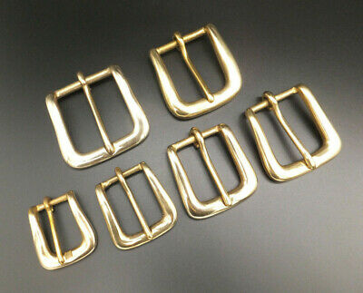 £3.50 • Buy SOLID CHUNKY BRASS BELT BUCKLE [ 3/4  - 1-1/2  ] LEATHERCRAFT [ 20 Mm - 38 Mm ]
