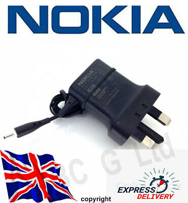 100% Genuine NOKIA  AC-11X Mains Chargers Thin Small PIN, UK Plug, Same Day Disp • 5.89£