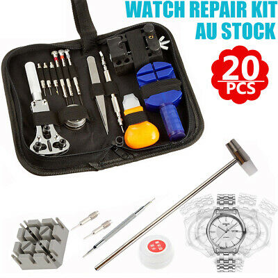 AU18.99 • Buy 20pcs Watch Repair Tools Kit Set Case Opener Remover Spring Pin Bars Watchmaker