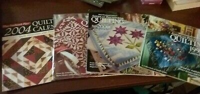 $10 • Buy American Patchwork & Quilting Calendar Lot Of 4 1999 2000 2002 (NEW) 2004  #2351