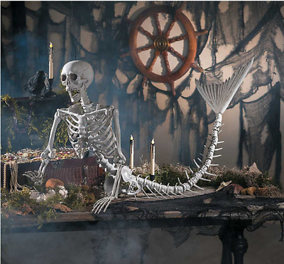 $94.99 • Buy Halloween Decoration Original Mermaid Life-Size Skeleton Halloween Outdoor Decor