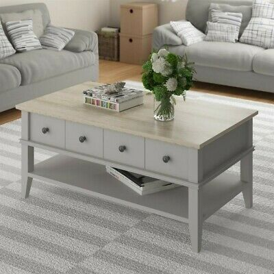 $178.30 • Buy Ameriwood Home Newport Coffee Table In Light Gray And Light Brown