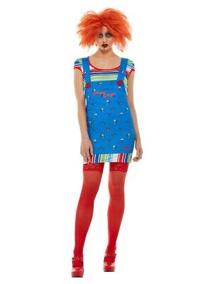 £20 • Buy Adult Chucky Costume Ladies Killer Doll Halloween Horror Fancy Dress Outfit Sml
