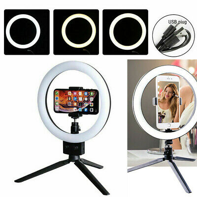 AU26.89 • Buy LED 5500K Ring Light Dimmable Lamp Photography Camera Photo Studio Phone Video