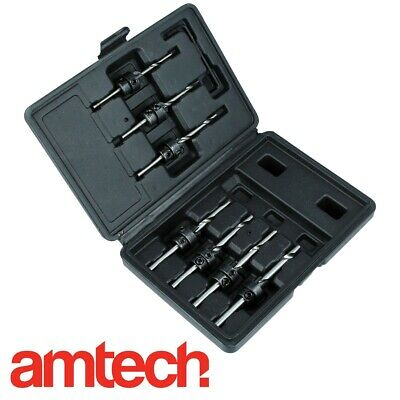 PRO COUNTERSINK SET WITH ADJUSTABLE PILOT DRILL BITS Case Woodwork Carpenters UK • 9.10£