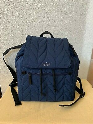 $ CDN155.55 • Buy $300 NWT KATE SPADE Blue Ellie Large Nylon School Travel Backpack WKRU5825