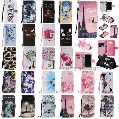 $ CDN6.23 • Buy For Samsung Galaxy S8 PLUS Note8 S7 S6 Edge S5 S4 Wallet Leather Flip Case Cover