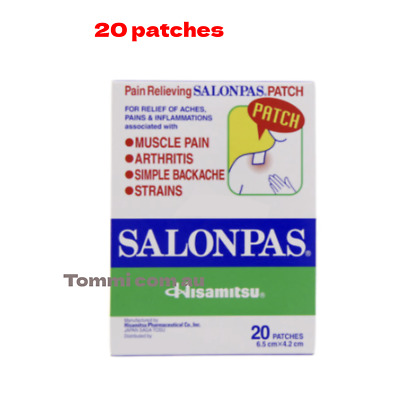 AU4.20 • Buy Salonpas Patch Hisamitsu Pain Relieving 1 Boxes 12 Patches Made In Vietnam
