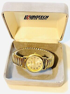 $ CDN78.77 • Buy Vintage Eurotech Swiss Men's Quartz GoldTone Wrist Watch Swiss Parts(20232M)