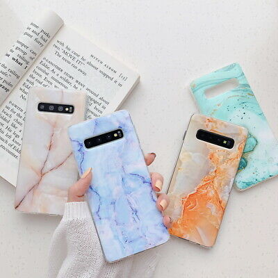 $ CDN5.09 • Buy For Samsung Galaxy S10E S9 S8 Plus Glossy Marble Pattern Soft Rubber Case Cover
