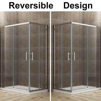 800x760mm Corner Entry Shower Enclosure Walk In Cubicle With Double Sliding Door • 113.99£