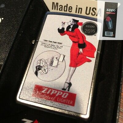 $21.95 • Buy Zippo 205 Windy Fan Test Vintage Advertisement Lighter + FLINT PACK
