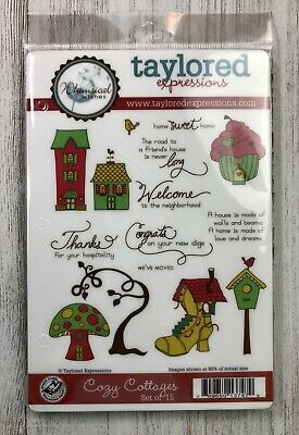 TAYLORED EXPRESSIONS COZY COTTAGES STAMPS SET 15 NewSweet Home Great Condition  • 9.59$