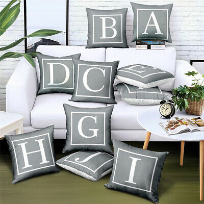 45x45cm English Letter Alphabet Pillow Cover Case Cushion Home SofaBed Car Decor • 2.78£