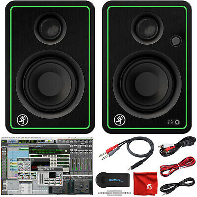 $105.99 • Buy Mackie CR3-X 3  Creative Reference Pro Studio Monitors And Bluetooth Adapter