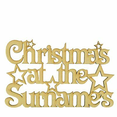 Personalised Christmas At The... Sign With Stars Xmas Family Present Gift Gifts  • 4.99£