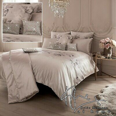 Kylie Minogue Bedding LUCIANA Blush Pink Floral Duvet Cover, Cushions Or Throw • 41.99£