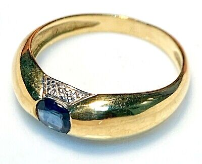 AU406.51 • Buy Magnificent Ring Gold 18 Gold - Sapphire 0.30 X 0.40 CM - 2,95 G