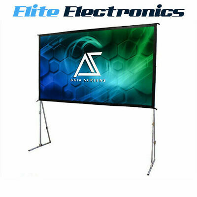 """AU799 • Buy Akia Screens 145"""" Indoor Outdoor Portable Projector Screen With Stand"""