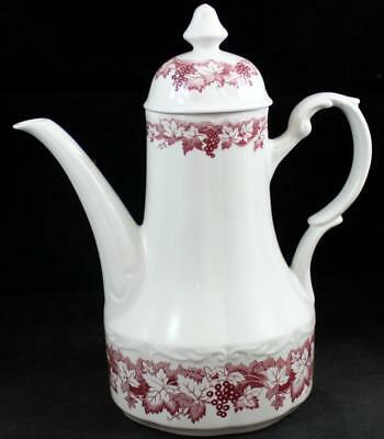 AU76.27 • Buy JG Meakin RED VINE Coffee Pot With Lid GREAT CONDITION
