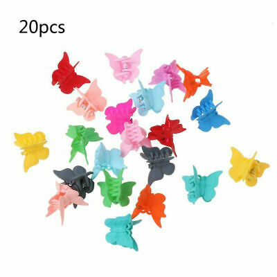 $1.04 • Buy 20pcs Butterfly Hair Clips Cute Hairpin For Kids Girls Multi Colors Claw Clip