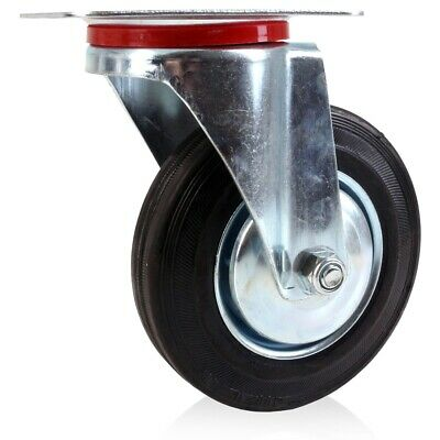 REPLACEMENT CASTOR WHEEL 6 /150mm Rubber Trolley Garage Flatbed Hauling Moving • 17.99£