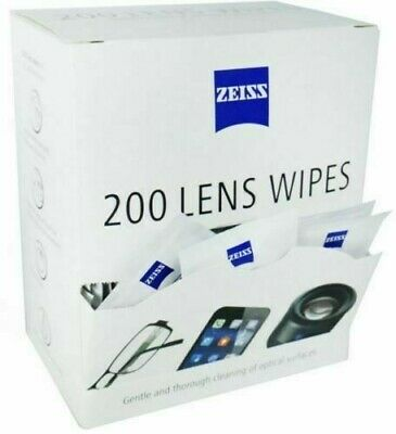 Zeiss Pre Moist Lens Wipes Glasses Individual Sachets Glass Cleaner 5-400 Wipes • 5.99£