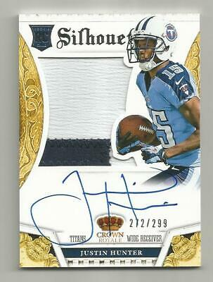 $5 • Buy Justin Hunter RC 2013 Crown Royale Silhouets Auto Jersey Card 272/299