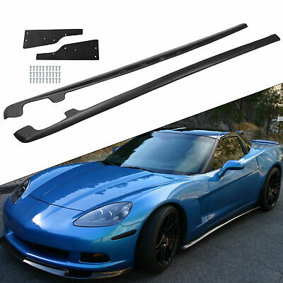 For 05-13 Corvette C6 Base | ZR1 Style ABS Plastic Side Skirts Panel Mud Flaps • 92.85$