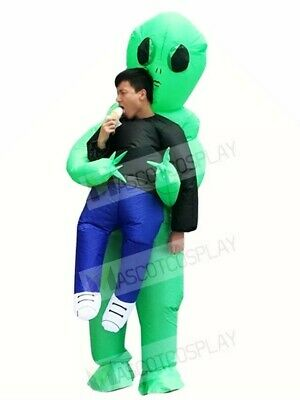 $35.99 • Buy Green Alien ET Carry Me Monster ET Inflatable Halloween Xmas Costumes For Adults