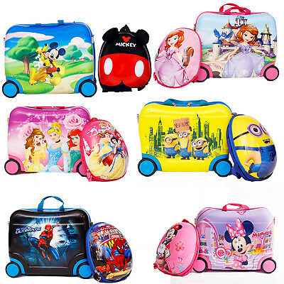 £29.99 • Buy Children Kids Holiday Travel Cabin Hand Hard Shell Suitcase Luggage Trolley Bags