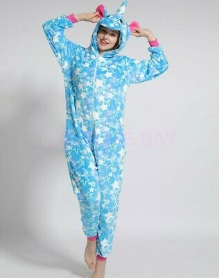 AU29.95 • Buy Blue Star Unicorn Onesie Kigurumi Pyjamas Animal Costume Jumpsuit AU