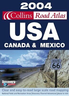 2004 Collins Road Atlas USA, Canada And Mexico, , Used; Good Book • 12.50£